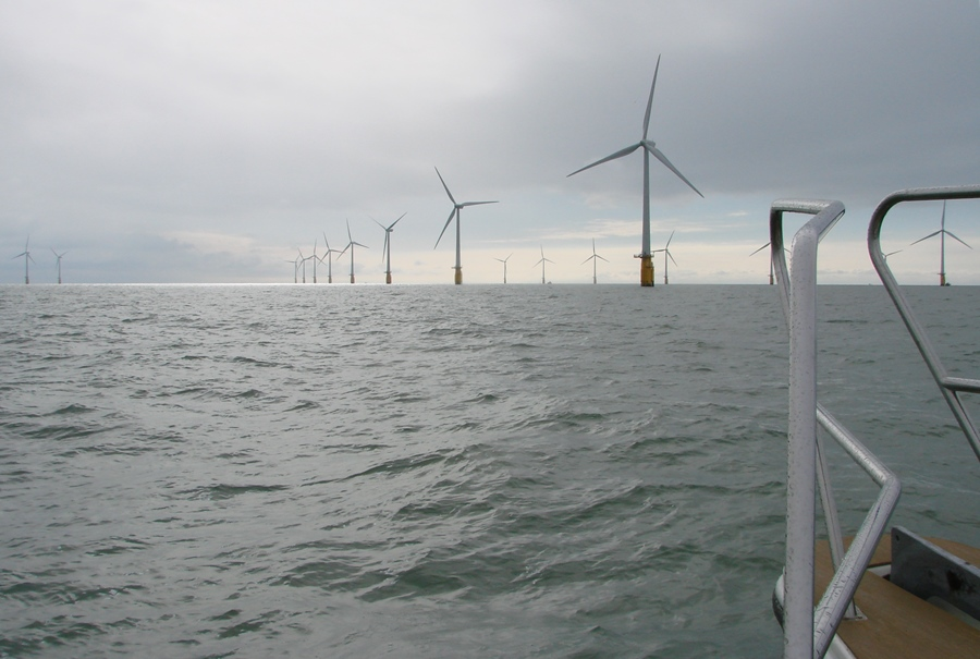 Thanet Wind Array in the Thames Estuary, UK