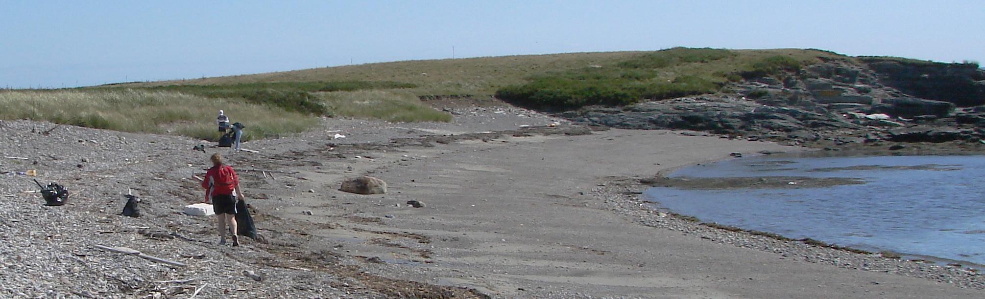 Coastal Cleanup volunteers on Richmond Island