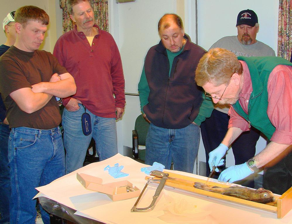 NOAA Fishery scientist demonstrates sampling - MREP Science Module