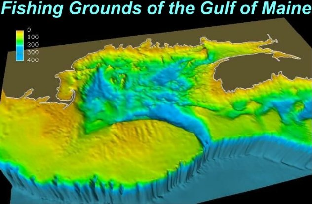 Seabed relief map - USGS