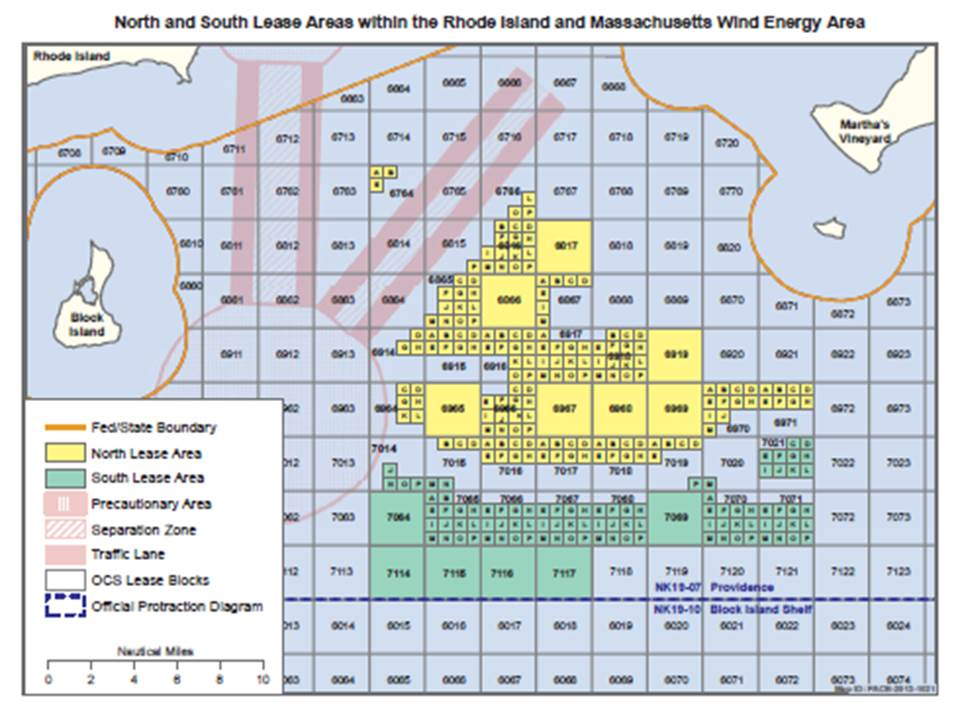 BOEM Rhode Island/Massachusetts Wind Energy Area (WEA) Click image to enlarge